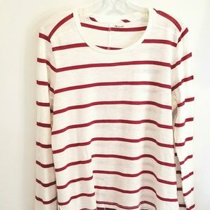 Madewell red stripe shirt